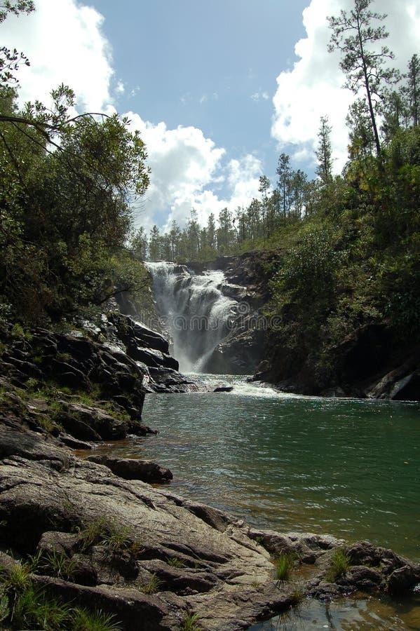 De grote Rots valt Waterval in Belize stock foto's