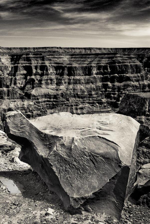 De grote rotsen van de Canion stock afbeeldingen