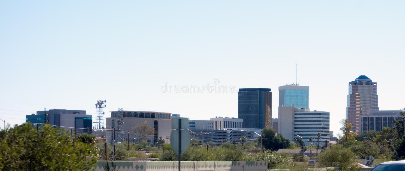 De grote stad van Arizona van Tucson, Amerikaans Zuidwesten royalty-vrije stock foto