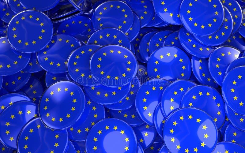 De grote stapel van de EU speelt Kentekens mee royalty-vrije illustratie