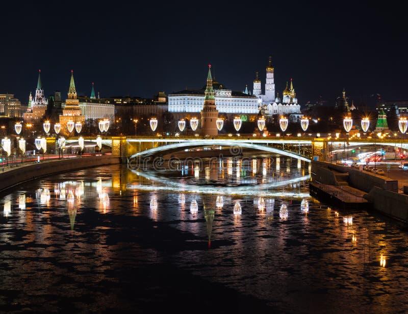 De Grote Steenbrug en Moskou het Kremlin stock fotografie