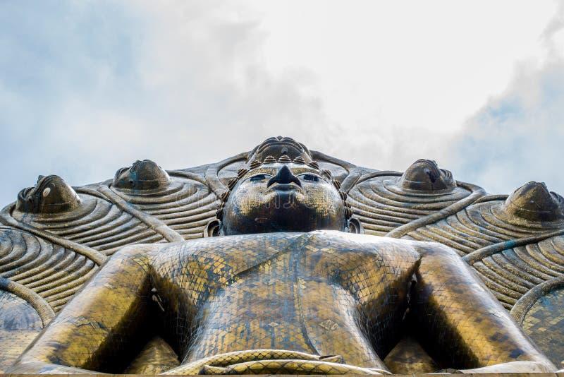 De grote van Boedha Huidige Sirindhorn Globalisering van het standbeeldtawaravadee Sri bevordert Khoa Eto Prachinburi royalty-vrije stock foto