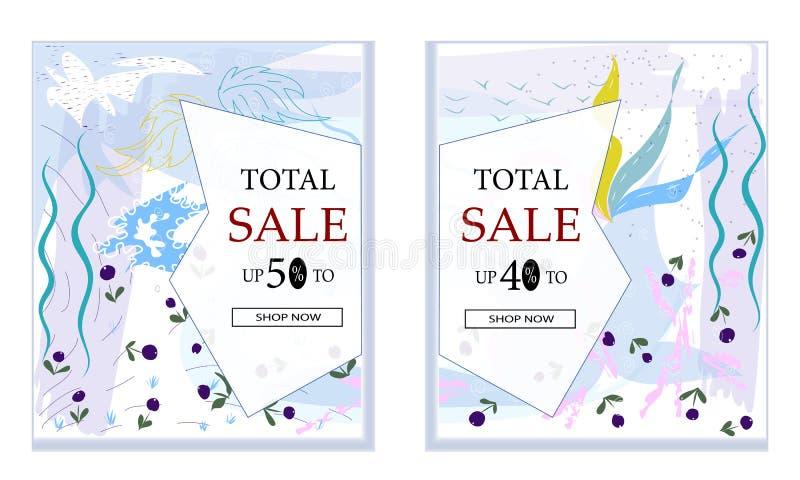 De grote Verkoop met speciale kortingsaanbieding, de Creatieve abstracte websitekopbal of de banner plaatsen met ruimte om beeld  stock illustratie