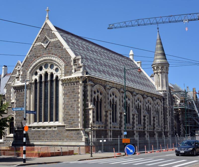 De grote Zaal in het Christchurch-Kunstencentrum wordt nu hersteld aan zijn vroegere glorie stock foto's