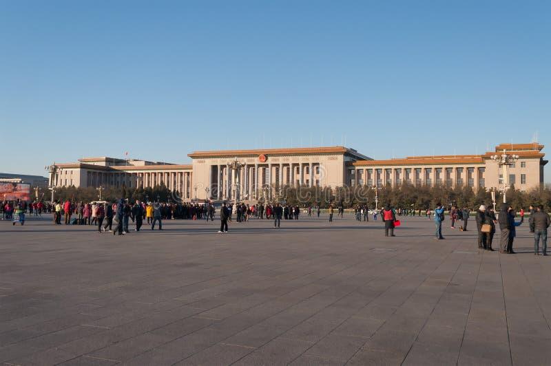 De Grote Zaal van de Mensen. Peking. China stock fotografie