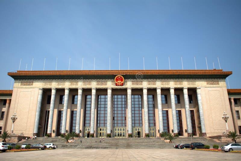 De Grote Zaal van Mensen, Peking, China stock foto's