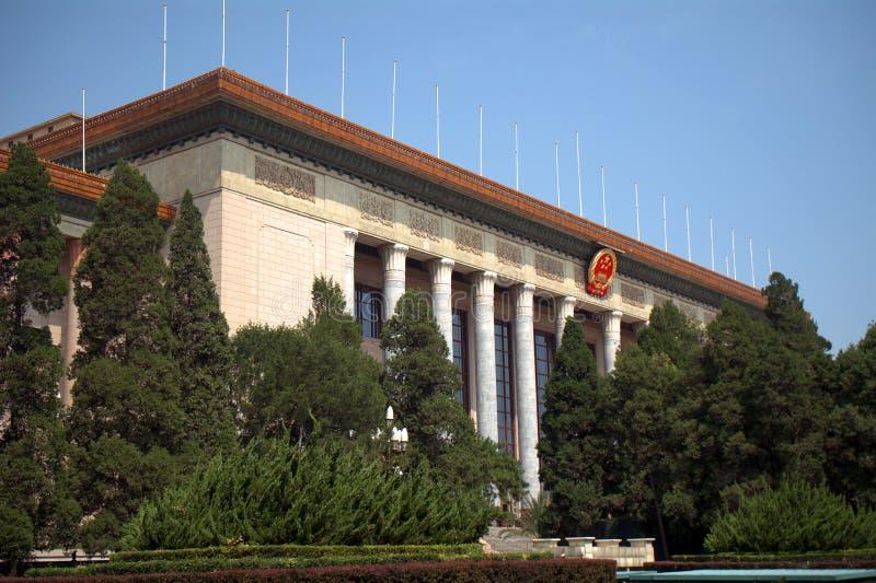 De Grote Zaal van Mensen, Peking, China stock afbeeldingen