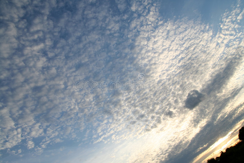 De grote Zonsondergang van de Hemel royalty-vrije stock afbeelding