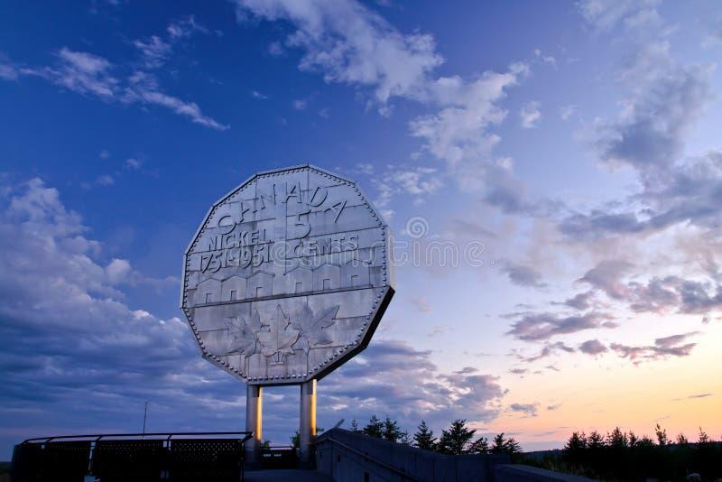 De grote Zonsondergang van het Nikkel stock afbeeldingen