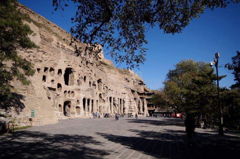 De Grotten van Yungang stock fotografie