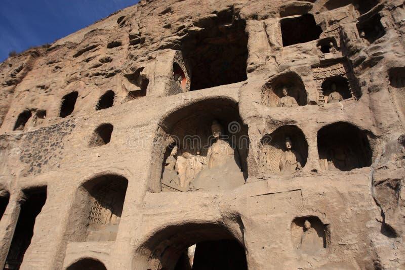 De Grotten van Yungang stock afbeelding