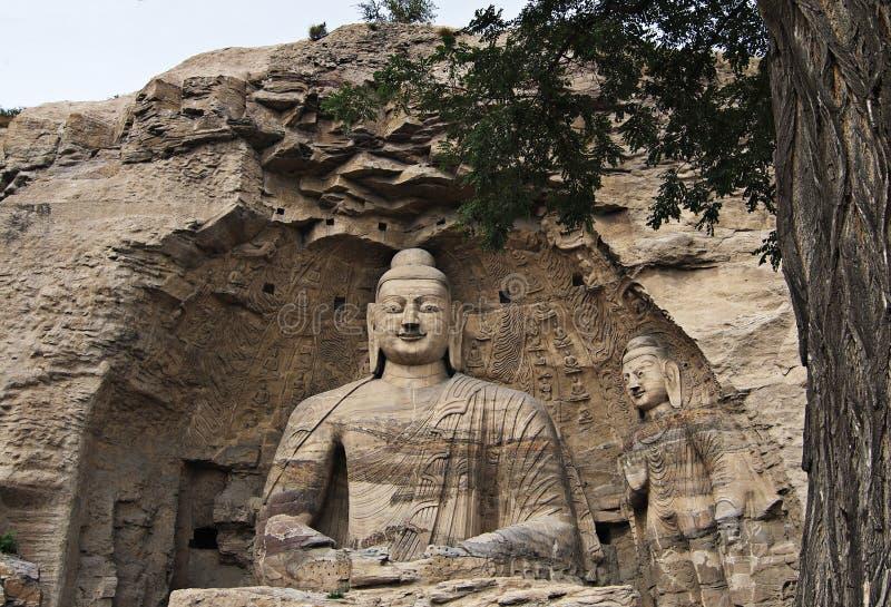 De Grotten van Yungang stock foto's