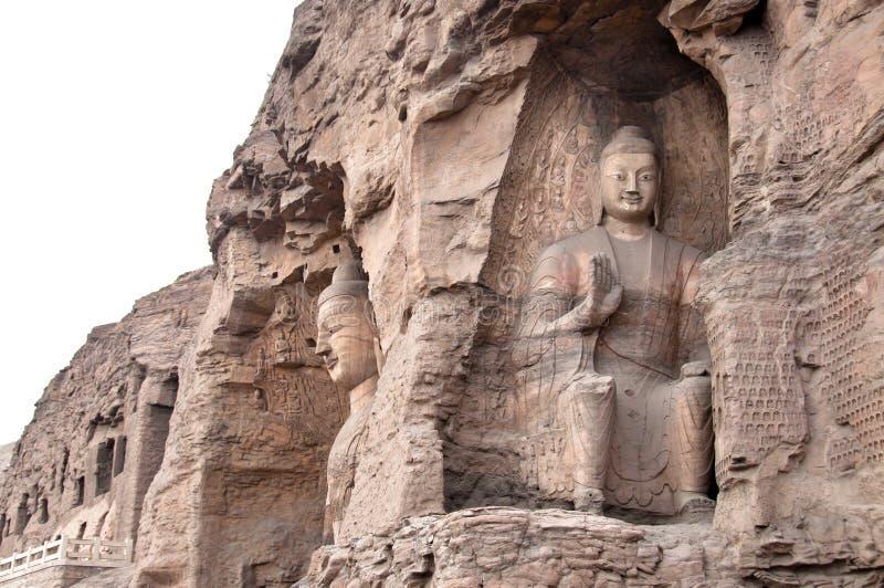 De Grotten van Yungang, Datong, China royalty-vrije stock fotografie