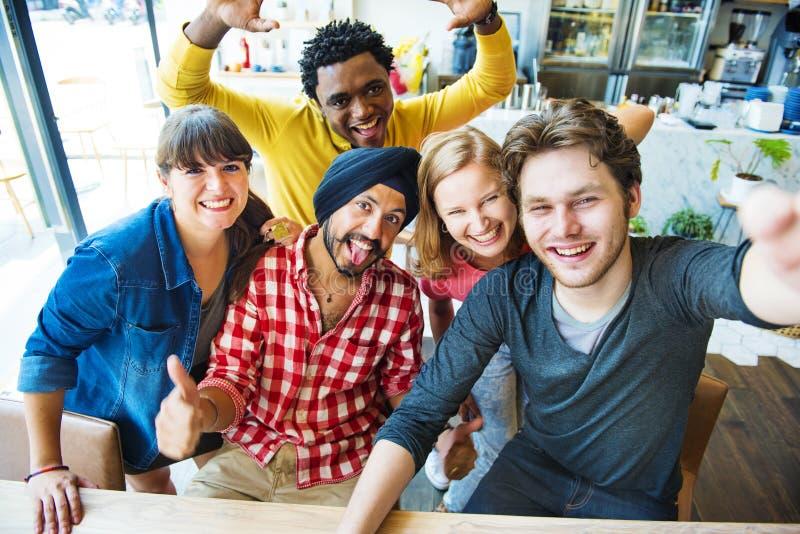 De groupie concept d'université de connexion de travail d'équipe ensemble photographie stock