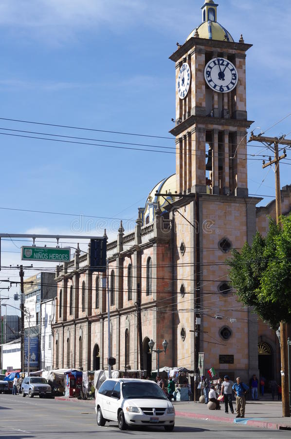 De Guadalupe Catedral de Nuestra Seniora in Tijuana, Mexiko stockfotos