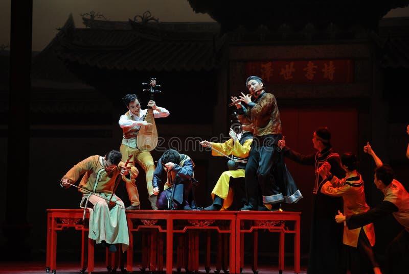 De Guangdong da música da orquestra- ato nacional primeiramente de eventos do drama-Shawan da dança do passado foto de stock