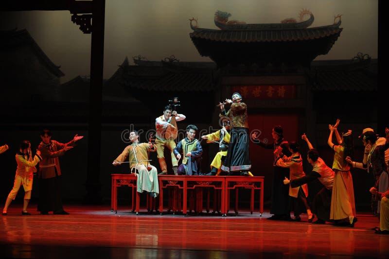 De Guangdong da música da orquestra- ato nacional primeiramente de eventos do drama-Shawan da dança do passado fotos de stock royalty free