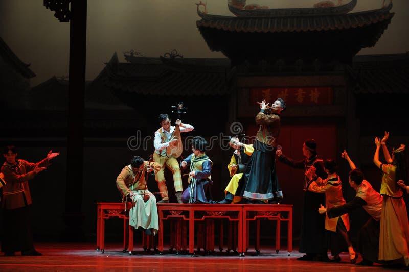 De Guangdong da música da orquestra- ato nacional primeiramente de eventos do drama-Shawan da dança do passado imagens de stock royalty free
