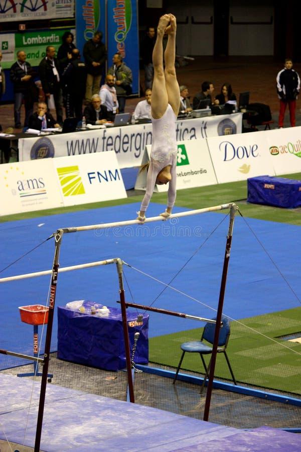 De Gymnastiek- Grand Prix 2008 van Milaan stock foto's