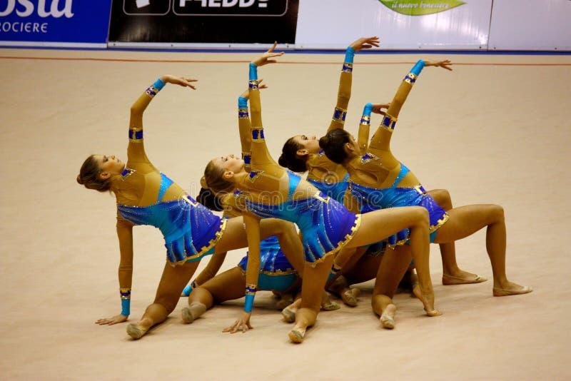 De Gymnastiek- Grand Prix 2008 van Milaan stock afbeelding