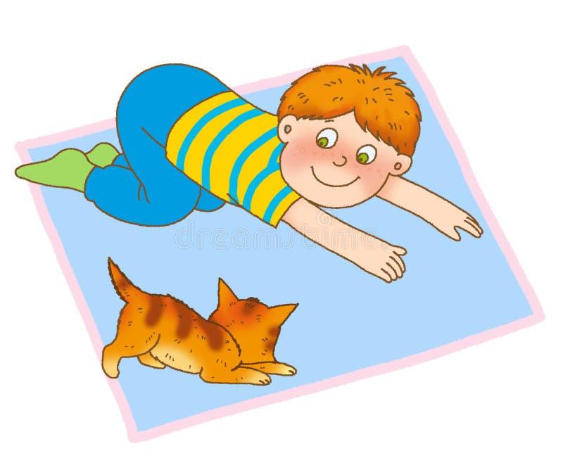 De gymnastiek van het kind stock illustratie