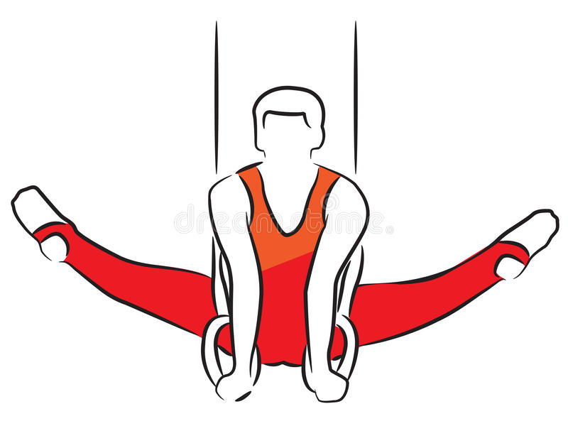 De Gymnastiek van mensen belt nog vector illustratie