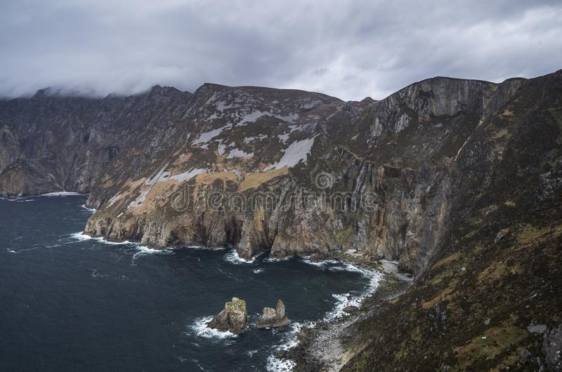 De högsta klipporna i Europa arkivbilder