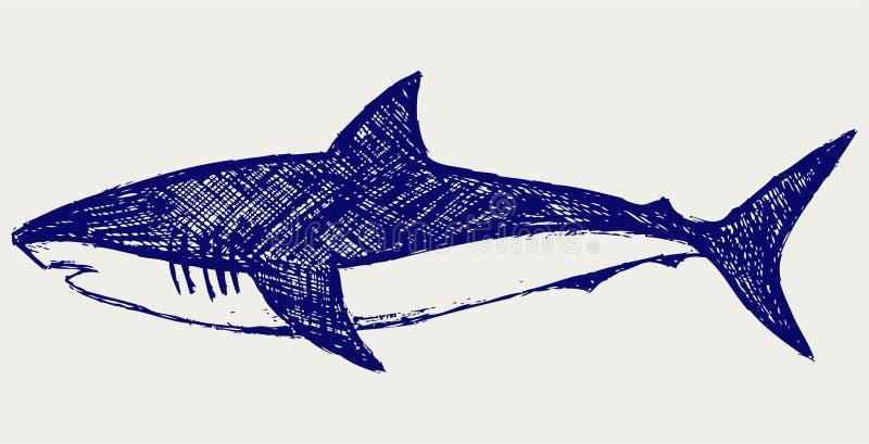 De Haai van de ertsader stock illustratie