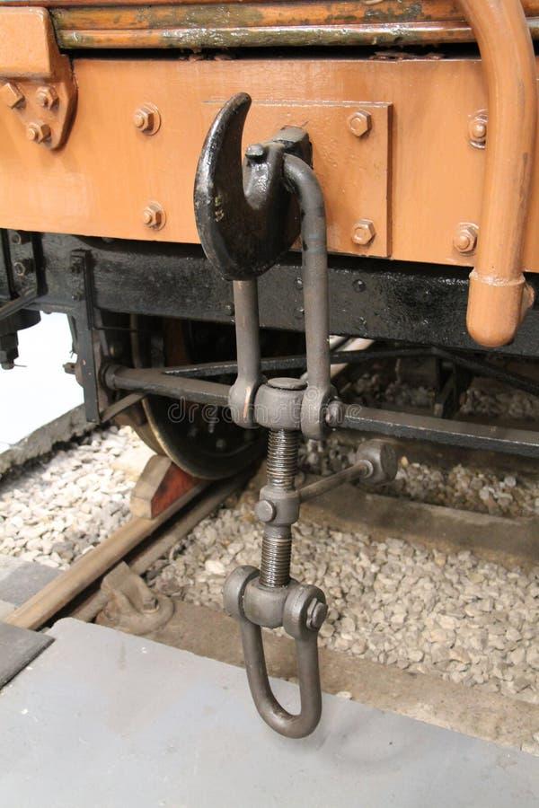 De Haak van de treinkoppeling stock foto's
