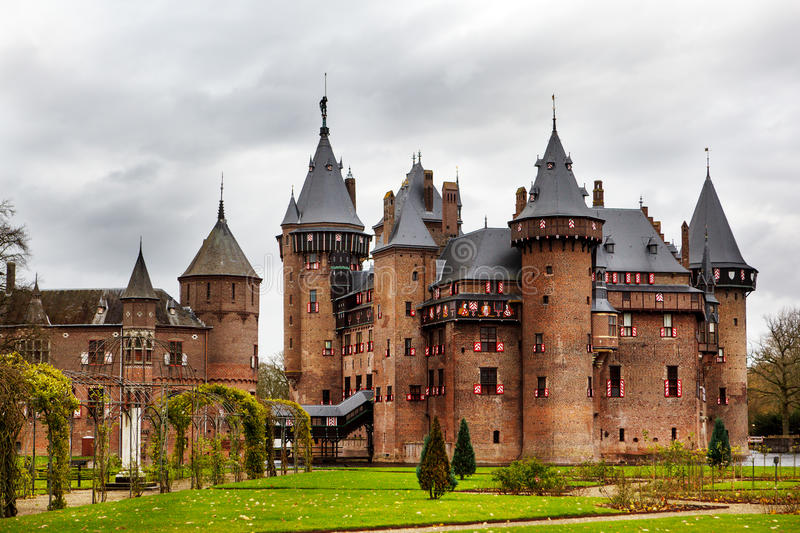 De Haar Castle. Medieval castle in Netherlands royalty free stock photography