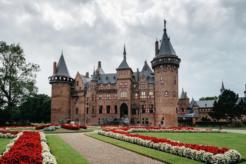 De Haar Castle is the biggest castle in The Netherlands stock photos