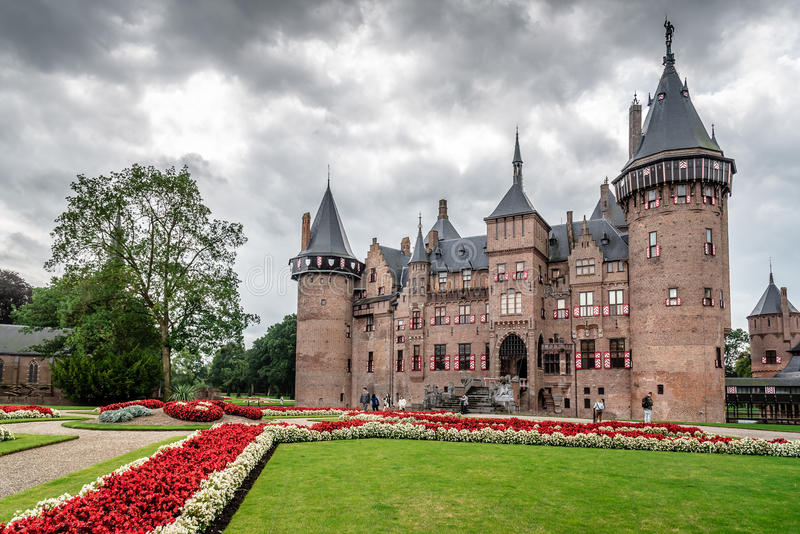 De Haar Castle is the biggest castle in The Netherlands royalty free stock images