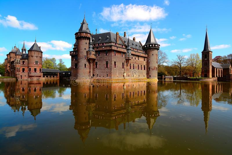 De Haar Castle, das Netherland lizenzfreies stockbild