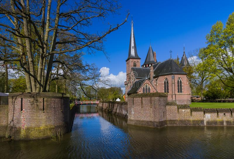 De Haar castle near Utrecht - Netherlands. Architecture background royalty free stock photography