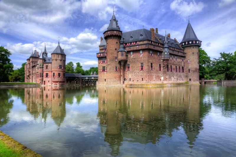 De Haar slott nära Utrecht, Nederländerna arkivfoto
