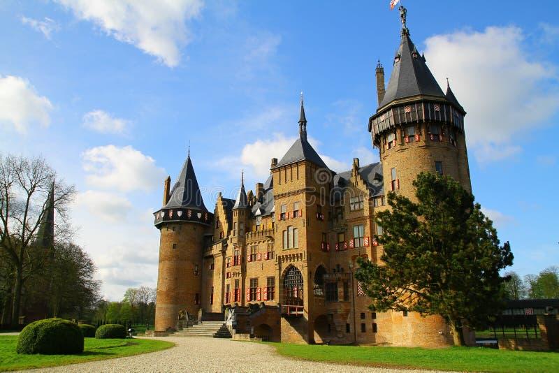 De Haar slott - Utrecht - Nederländerna arkivfoton
