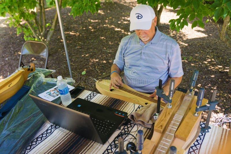 De hakkebordmaker bij onderzoekt Park royalty-vrije stock foto