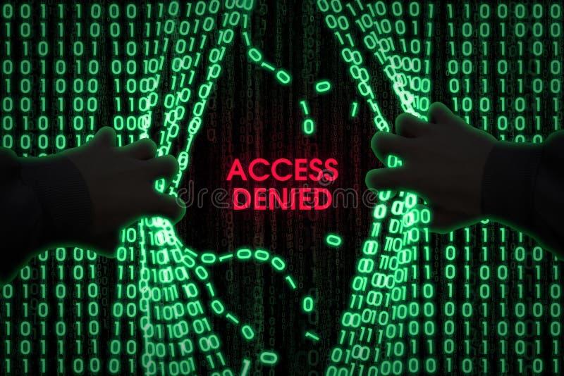 De hakker gaat de computer in royalty-vrije stock fotografie