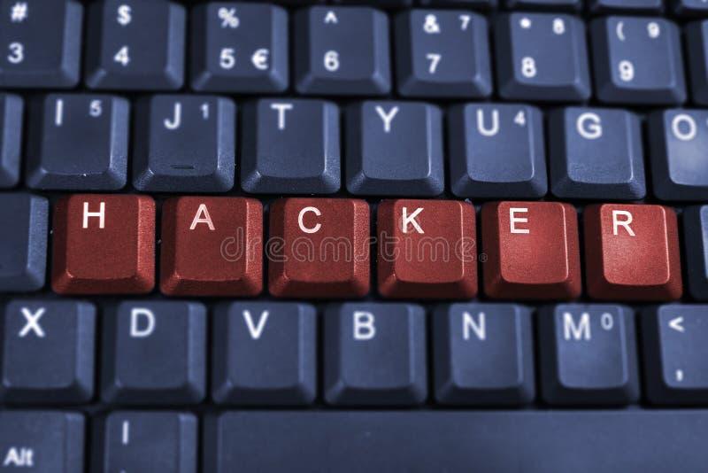 De hakker van de computer stock foto's