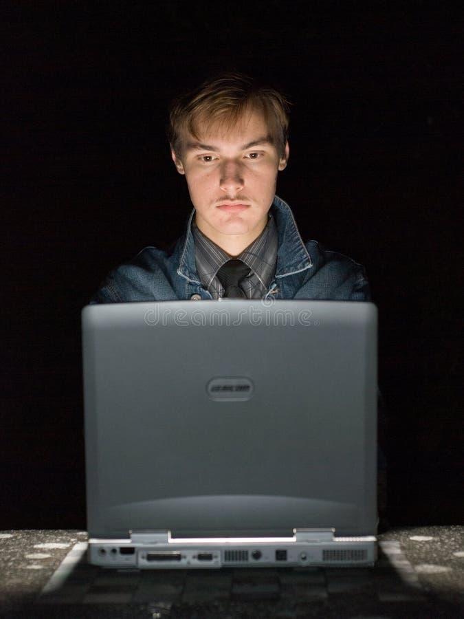 De hakker van de computer stock fotografie