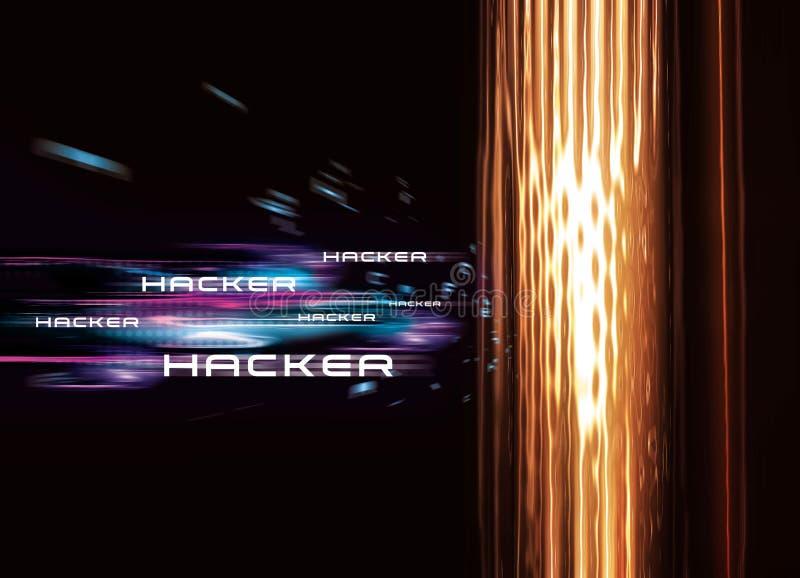 De Hakker van de computer stock illustratie