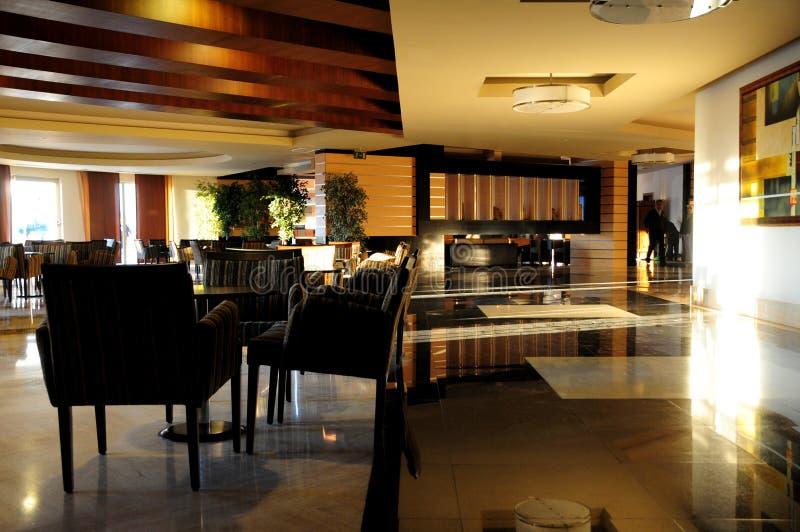 De hal binnenlands ontwerp van het hotel stock afbeelding