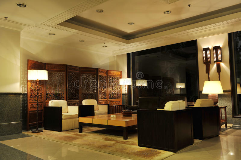 De Hal van het hotel stock afbeelding