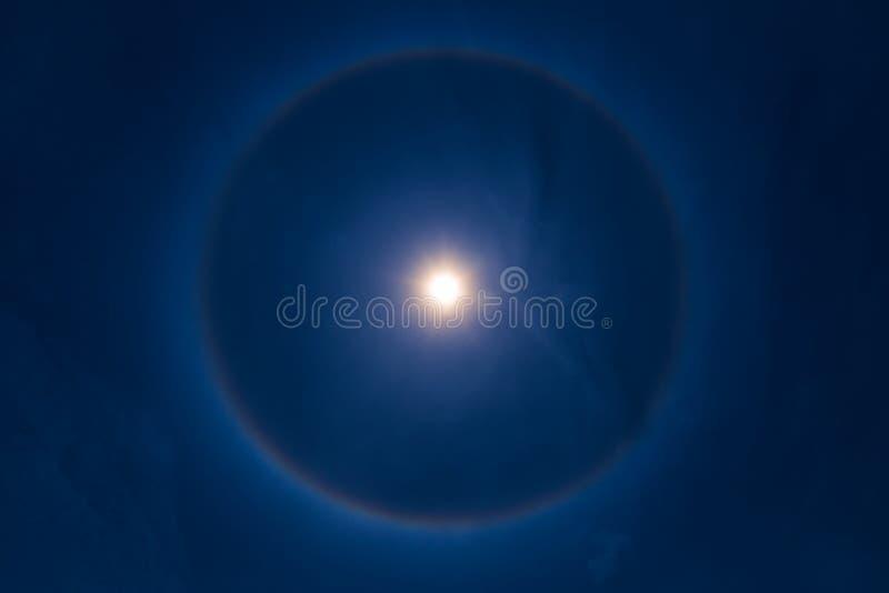 De halofenomeen van de hemelzon vector illustratie