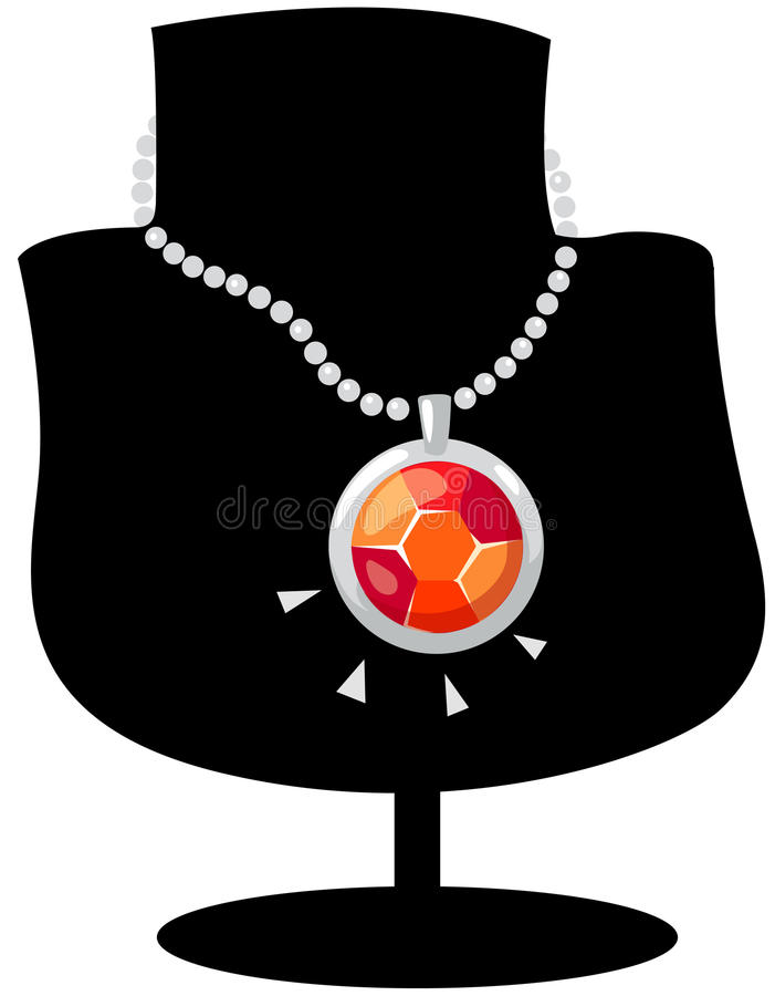 De halsband van de diamant vector illustratie
