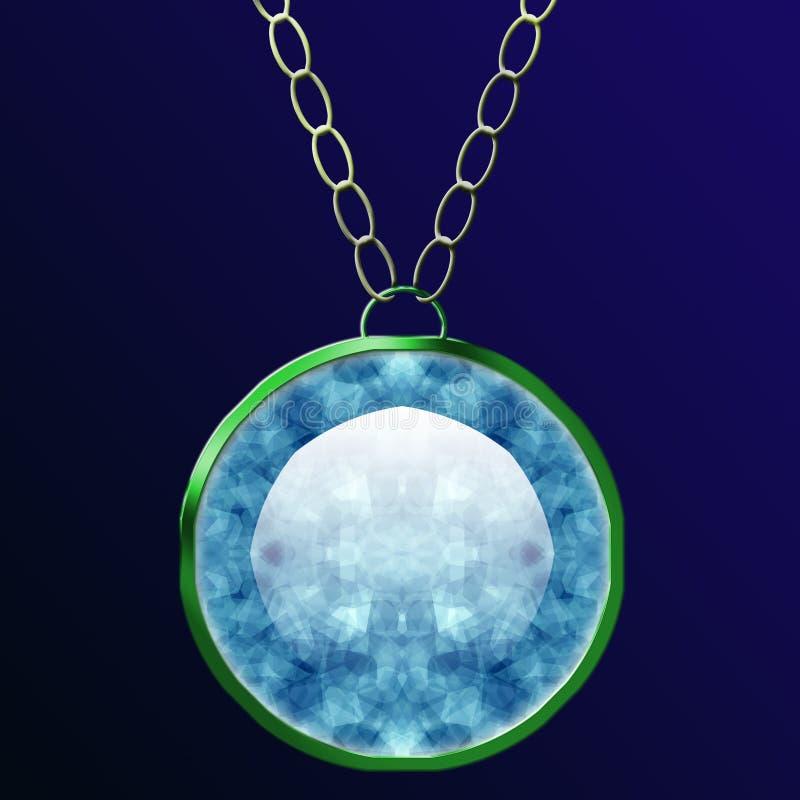 De Halsband van de diamant stock illustratie