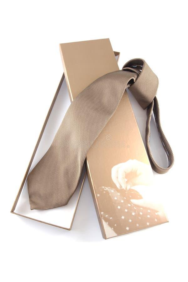 De halsband van het brons in giftdoos royalty-vrije stock foto's