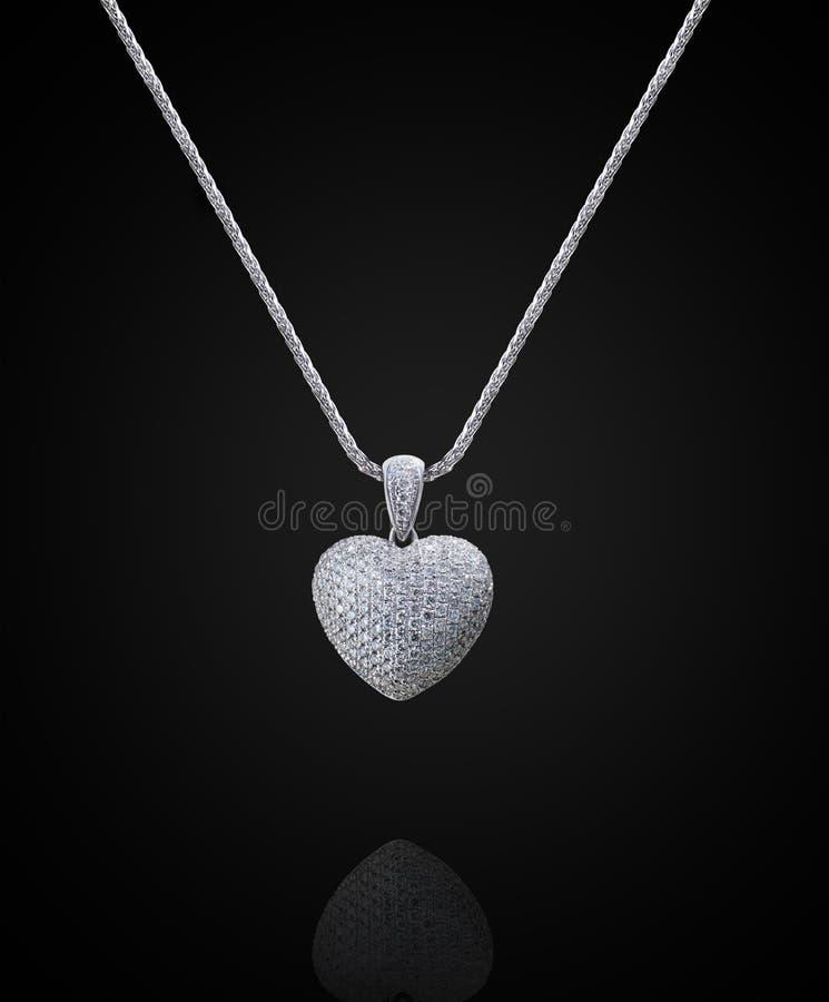 De halsband van het diamanthart stock foto