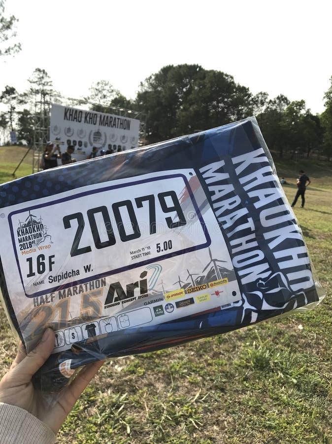 De halve marathon van Khaokho stock foto