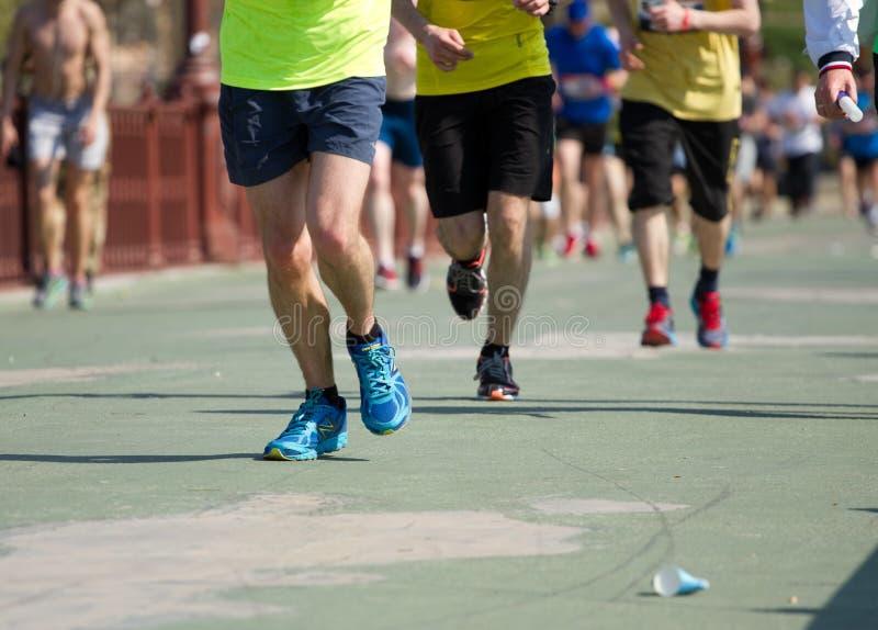 De halve marathon van Kiev stock afbeeldingen